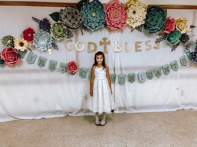 Miss H's First Communion